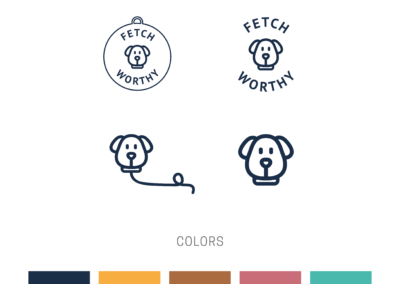 Fetch Worthy Logo Variaties