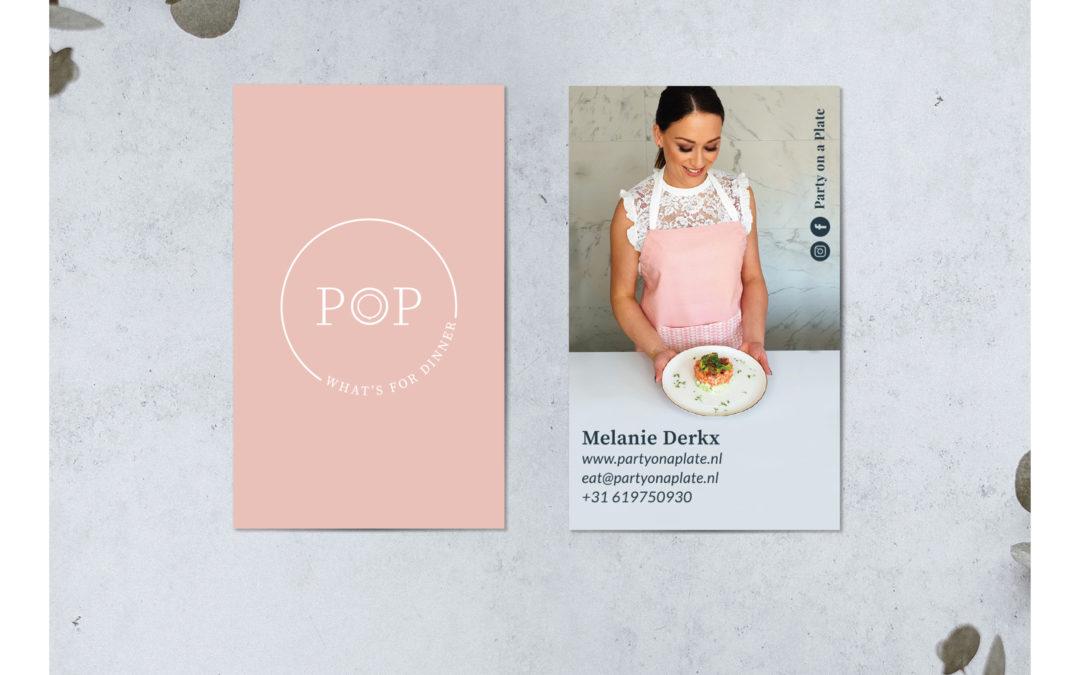 POP Party on a Plate – Visitekaartje