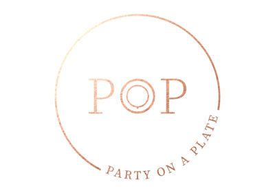 POP Party on a Plate Logo