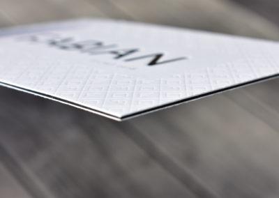 Geboortekaartje – Fabian – Letterpress Cacheren 600gr kaartje sluitzegel mini logo
