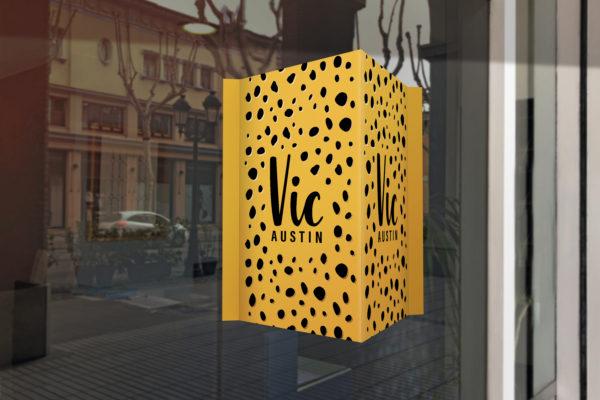 raambord geboortebord oker geel zwart cheetah print